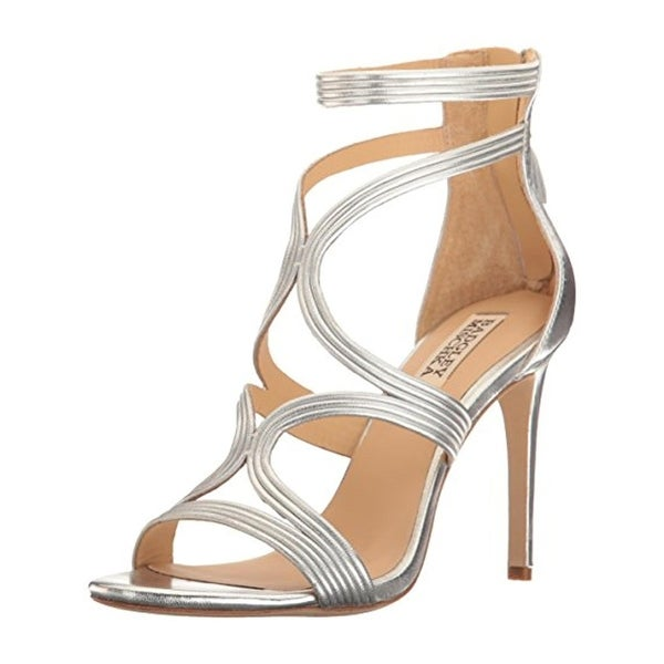 Badgley Mischka Womens Torrey Dress Sandals Leather Open Toe - 8.5 medium (b,m)
