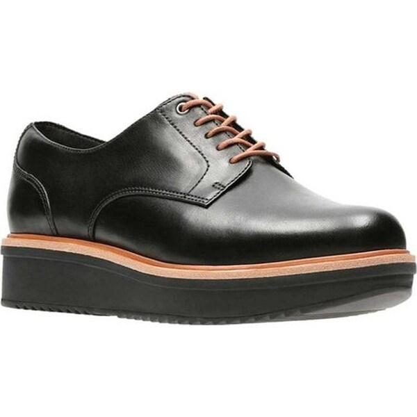 4efdb501aa0 Shop Clarks Women's Teadale Rhea Oxford Black Full Grain Leather ...