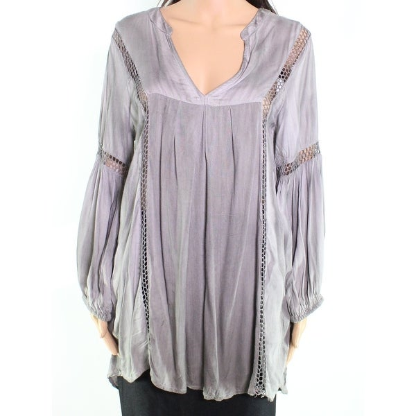 9d46bc9d507 Shop Raviya NEW Gray Crochet Inset Women's Size Large L Swim Cover-Up -  Free Shipping On Orders Over $45 - Overstock.com - 20232321
