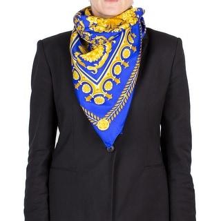 Versace Women's Floral Pattern Silk Scarf
