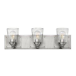 "Hinkley Lighting 51823 Jackson 3 Light 24"" Wide Bathroom Vanity Light with Seedy Glass"