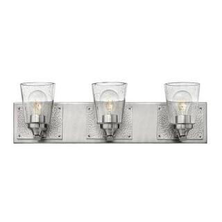 "Hinkley Lighting 51823 Jackson 3 Light 24"" Wide Bathroom Vanity Light with Seedy Glass"