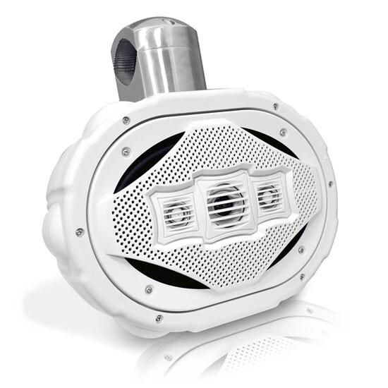 300 Watts 6''x 9'' 4-Way Marine Wake Board Speaker (White Color)