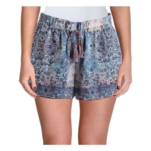 Joie Womens Lindee Casual Shorts Jacquard Print Sheer