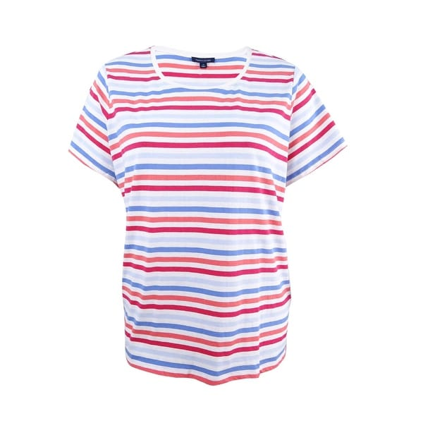 eb1b553526 Shop Tommy Hilfiger Women's Plus Size Striped Top - Blue Mutli - 2X - Free  Shipping On Orders Over $45 - Overstock - 23553538