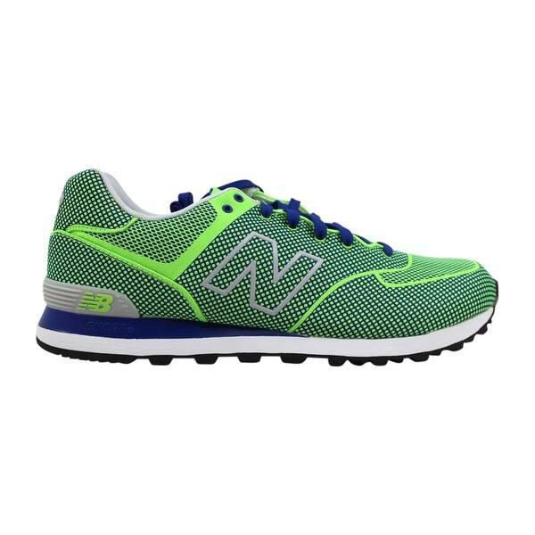 timeless design cfe26 2057d New Balance Men s 574 Woven Green Blue ML574GB