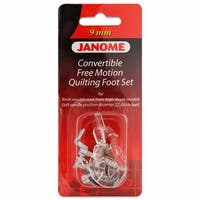 Janome Convertible Free Motion Quilt Foot Set For 9mm Machines