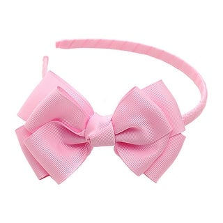 Light Pink Ribbon Bow Hairband Hair Accessory