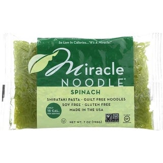 Miracle Noodle - Spinach Angel Hair Noodles ( 6 - 7 OZ)