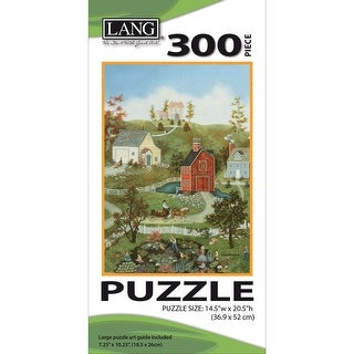 "Jigsaw Puzzle 300 Pieces 14.5""X20.5""-Village On The Bay"