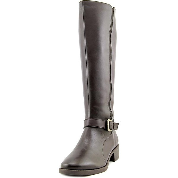 Easy Spirit Nadette Wide Calf Women W Round Toe Leather Knee High Boot
