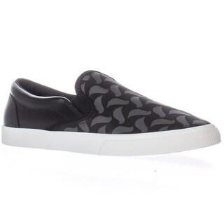 bucketfeet Carrie Van Hise Birds Slip-on Fashion Sneakers, Black