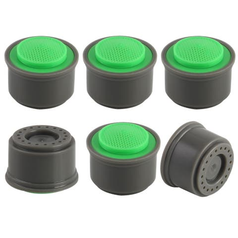 6pcs Plastic Faucet Aerator Insert Tap Replacement Water Filter Accessory Green - 21mm 6pcs