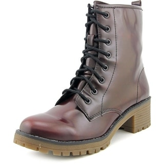 Madden Girl Eloisee Women Round Toe Synthetic Burgundy Ankle Boot