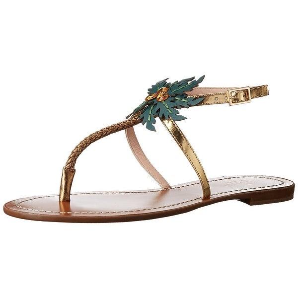 Kate Spade New York Women's Solana Flat Sandal, Gold, Size 7.0