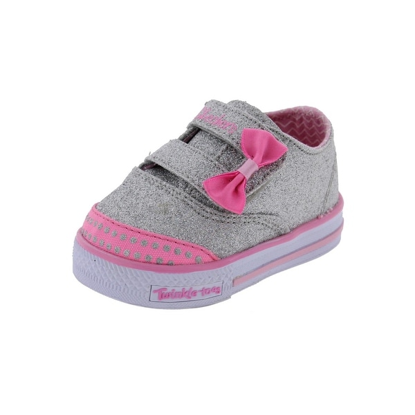 01c4b81b3e71 Twinkle Toes by Skechers Shuffles Glamour Baby Casual Shoes Glitter Low Top  - 1 medium (