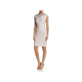 Eliza J Womens Cocktail Dress Beaded Above Knee - 4