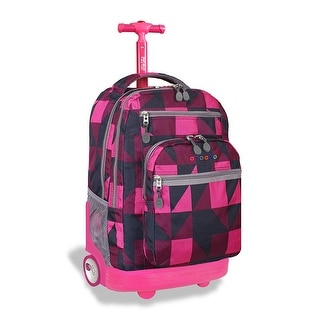 J World New York Sundance Rolling Backpack, Block Pink