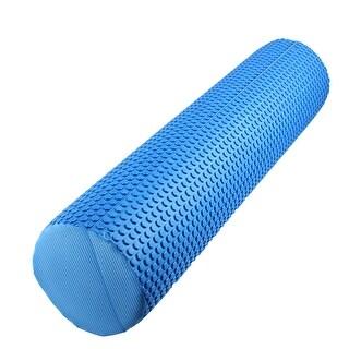 Exercise Yoga Pilates Foam Muscle Massage Stiffness Roller Blue 60cm Length