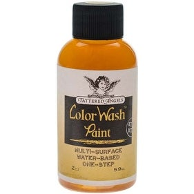 Soft Gold - Faux Finish - Tattered Angels Color Wash Paint 2Oz