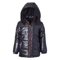 Ixtreme Little Boys Down Alternative Hooded Winter Puffer Bubble Jacket Coat