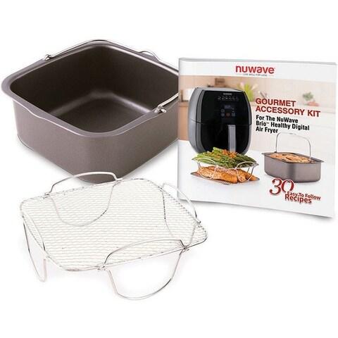 NuWave 2-piece Cooking Set for Brio Digital Air Fryer (3 qt)