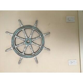 Nautical Decor Wood Ship Wheel