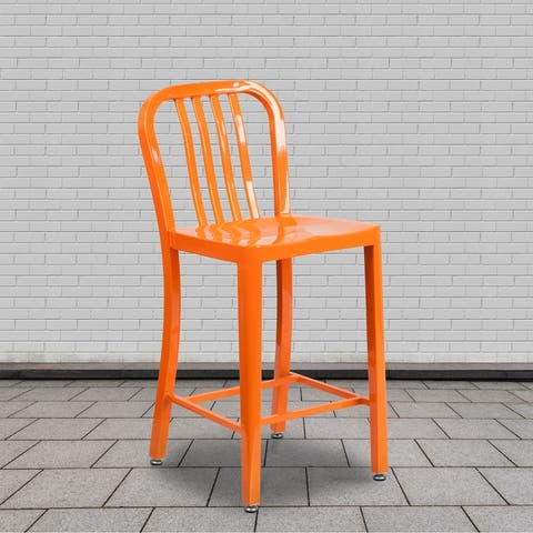 Porch & Den Stoneford 24-inch Metal Stool