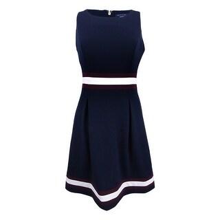 Tommy Hilfiger Women's Colorblocked A-Line Dress