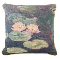 Fine Art Double-Sided Tapestry Square Throw Pillow Cover - Water Lilies