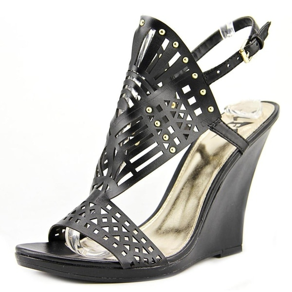 LFL Kopper Open Toe Synthetic Wedge Sandal