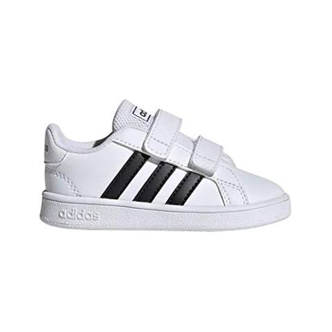 Adidas Baby Grand Court Sneaker, Black/White, 7K M Us Toddler