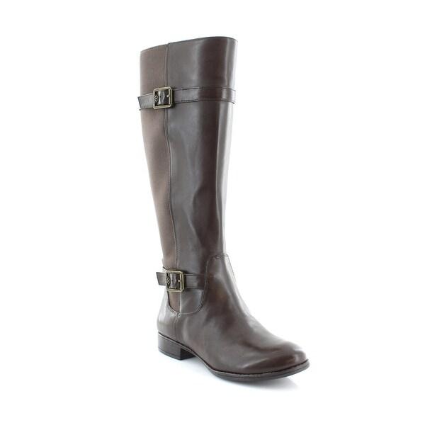 Isaac Mizrahi Live! Abby Women's Boots Dark Brown