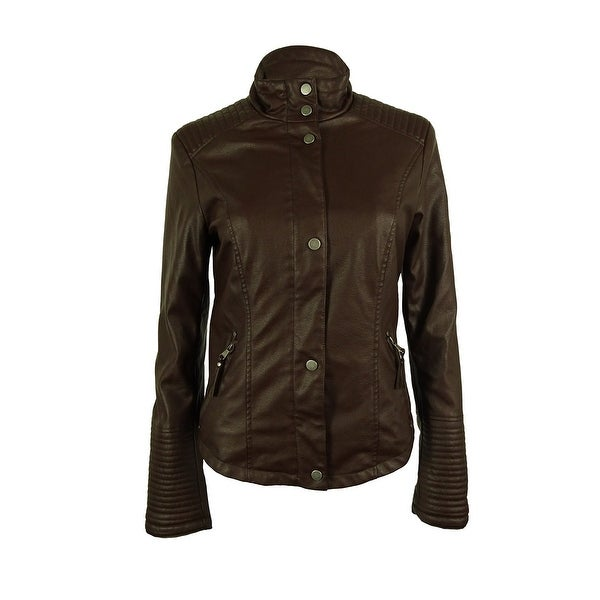 Celebrity Pink Women's Faux Leather Jacket - Java