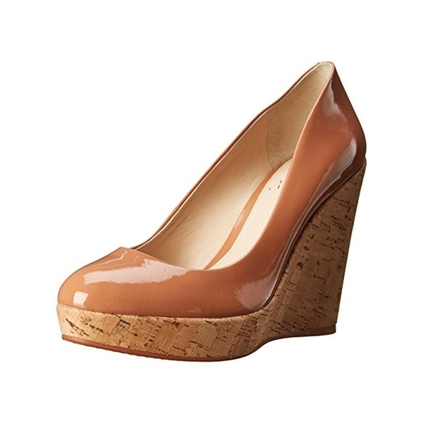 Vince Camuto Womens Faran Wedge Sandals Patent Cork - 10 medium (b,m)