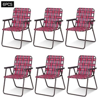 Link to Costway 6pcs Folding Beach Chair Camping Lawn Webbing Chair Similar Items in Camping & Hiking Gear