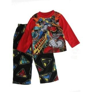 "Power Rangers Boys Red Black ""Dino Charge"" Print Sleepwear Set 8-10"