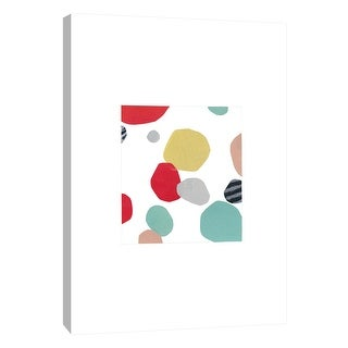 """PTM Images 9-105656  PTM Canvas Collection 10"""" x 8"""" - """"Collage With Red Pop 2"""" Giclee Abstract Art Print on Canvas"""