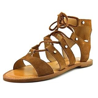 Dolce Vita Jasmyn Women Open Toe Suede Brown Gladiator Sandal