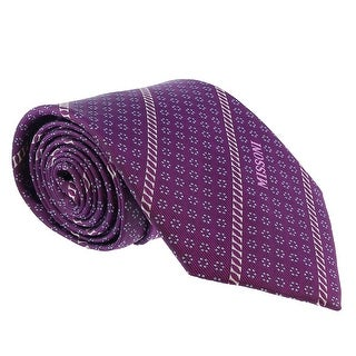 Missoni Micro Floral Purple Woven 100% Silk Tie