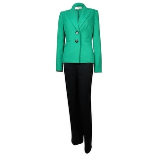Evan Picone Women's Madison Ave Notch Woven Pant Suit