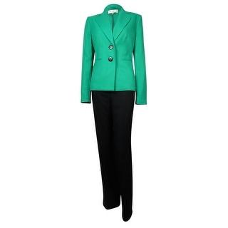 Evan Picone Women's Madison Ave Notch Woven Pant Suit