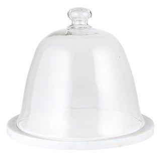 """Link to 10"""" Traditional Marble And Glass Dome Cake Stand Similar Items in Dinnerware"""