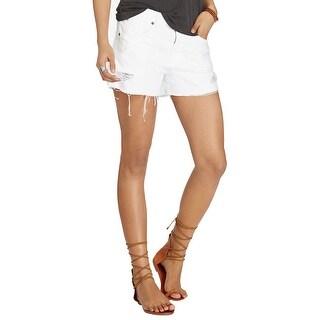Denim Supply Ralph Lauren Cotton Distressed Cutoff Shorts - 26