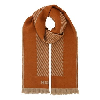 Missoni SC12WOU5084 0004 Orange/Tan 100% Wool Scarf