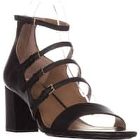Calvin Klein Caz Strappy Heeled Sandals, Black