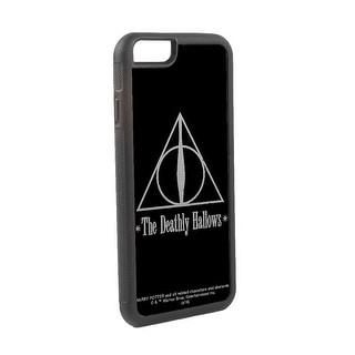 The Deathly Hallows Symbol Reverse Brushed Cellphone Case iPhone6 Rubber Case