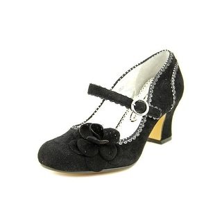 Poetic Licence Agenda Women Round Toe Suede Black Mary Janes