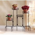 4-Tier Plant Stand Screen - Black - Thumbnail 0