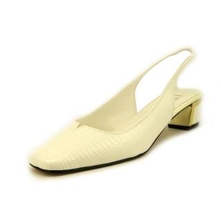 J. Renee Bev Women  Square Toe Synthetic White Slingback Heel